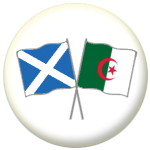 Scotland St Andrew and Algeria Friendship Flag 25mm Pin Button Badge